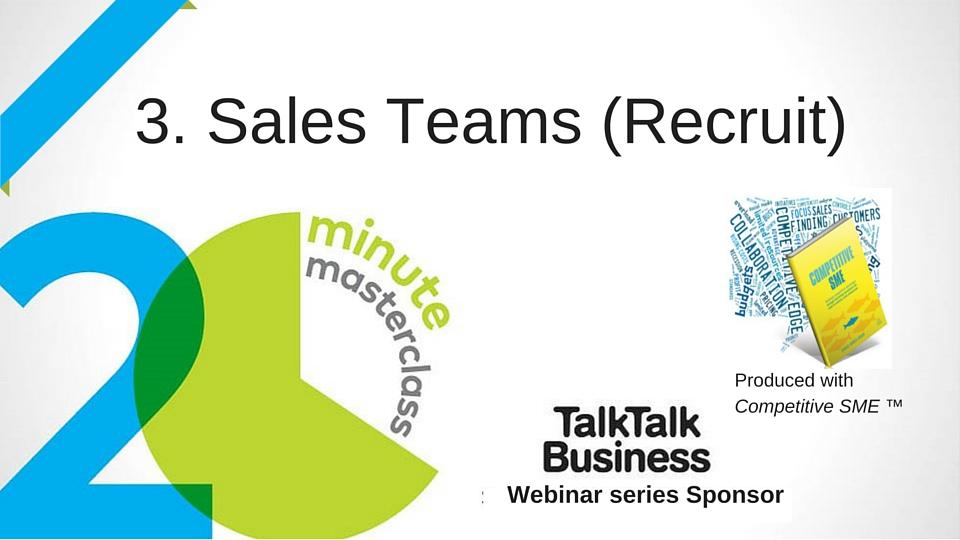20 Minute Masterclass: Sales Teams