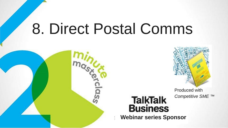 20 Minute Masterclass: Direct Postal Comms